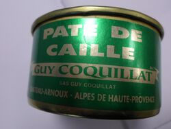 *PATE CAILLE 130GR