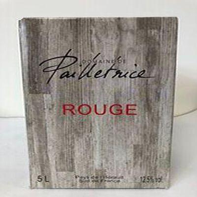 IGP Pays de L'hérault Domaine Pailletrice Rouge 5L
