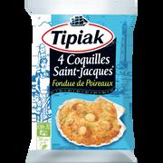 Tipiak Coquilles St Jacques Fondue De Poireaux Tipiak, 4x90g Soit 360g