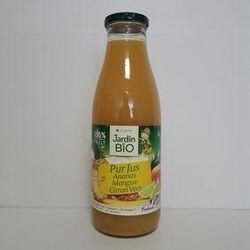 Pur jus ananas mangue citron vert bio LÉA NATURE bouteille 75cl