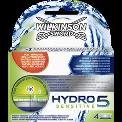 Lames de rasoir hydro 5 sensitive à l'aloé véra WILKINSON, x4