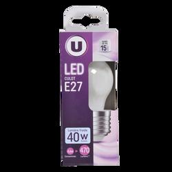 Led U, Mini, ronde, 40w, e27, opaque, lumière froide