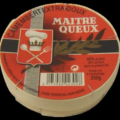 Camembert Maître Queux AOP lait pasteurisé, 20% de MG, VERNEUIL, 250g
