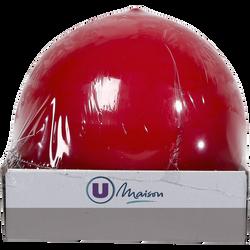 Bougie boule U MAISON, 78mm, rouge