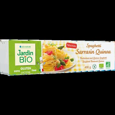 Spaghetti sarrasin quinoa sans gluten JARDIN BIO, pâquet de 400g