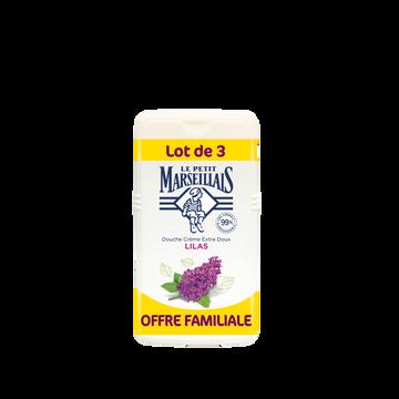 Le Petit Marseillais Gel Douche Extra Doux Lilas Le Petit Marseillais 3x250ml