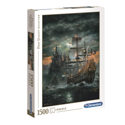 Puzzle 1500 pièces high quality CLEMENTONI The pirate ship