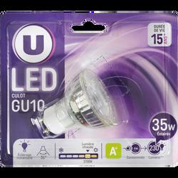 Ampoule LED spot U, 35w, culot GU10