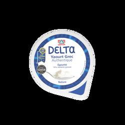 Yaourt grec nature DELTA, 10% de MG, pot de 400g