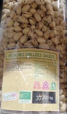 PISTACHES GRILLÉES SALÉES BIO, UN AIR D'ICI, ESPAGNE, 150GR