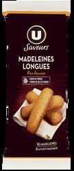 Madeleines longues Pur beurre U SAVEURS, x8 soit 2, 250g