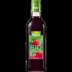Sirop à la fraise bio FRUISS BIO, bouteille de 500ml