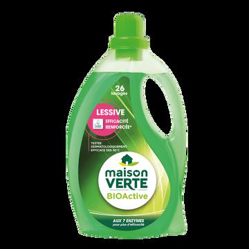Maison Verte Lessive Liquide Bioactif 7 2en1 Maison Verte, Flacon 1,8l 26 Lavages