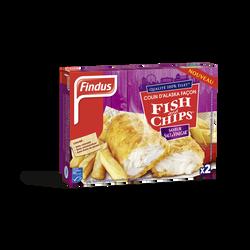 Colin d'Alaska MSC façon fish & chips saveur sel et vinaigre FINDUS, boite de 240g