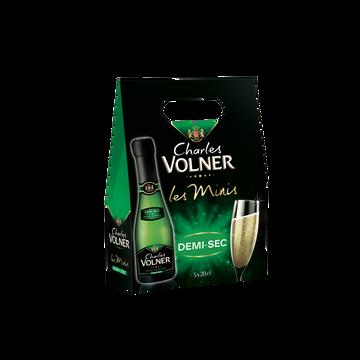 Charles Volner Vin Mousseux Demi-sec Charles Volner, 3 Bouteilles De 20cl