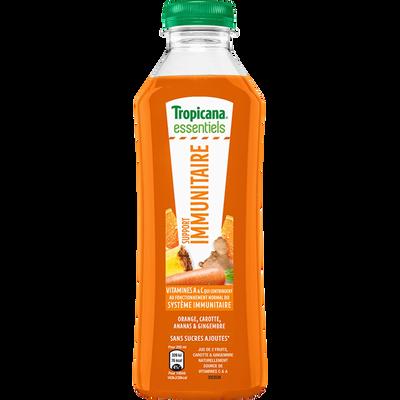 Jus de 2 fruits & légumes essential support immunital pure premium TROPICANA, 750ml
