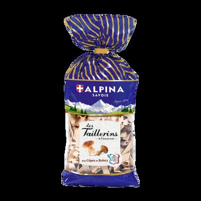 Pâtes Taillerins aux cèpes & bolets ALPINA SAVOIE, paquet de 250g