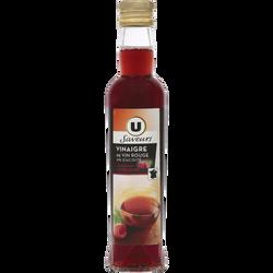 Vinaigre de framboise du Limousin 6° U SAVEURS, bouteille en verre de25c l