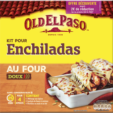 Kit pour enchiladas OLD EL PASO, paquet de 657g offre découverte