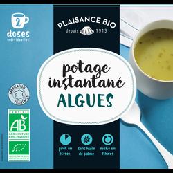 Potage instantané aux algues PLAISANCE BIO, sachet pour  2 doses individuelles, 17g