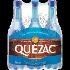 Eau minérale naturelle gazeuse QUEZAC, 6 bouteilles en plastique de 1,15l