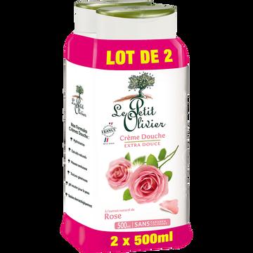 Le Petit Olivier Crème De Douche À La Rose Le Petit Olivier, 2 Flacons De 500ml