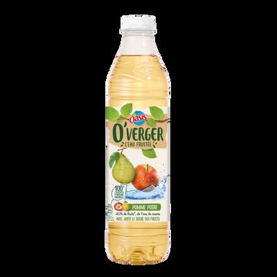 Boisson rafraîchissante pomme poire O'VERGER, bouteille en plastique de 1,2l
