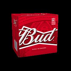 Bière blonde BUD, 5°, 12x25cl