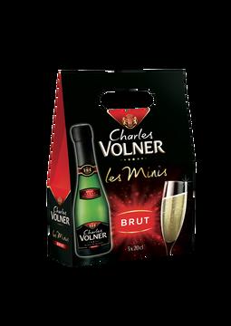 Charles Volner Vin Mousseux Brut, Charles Volner, 3 Bouteilles De 20cl