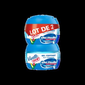 Dop Gel Coiffant Effet Mouillé Vivelle Dop Pot 2x150ml