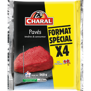 Charal Pavé De Boeuf, Charal, France, 4 Pièces, Barquette, 560g