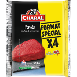 Pavé de boeuf, CHARAL, France, 4 pièces, barquette, 560g