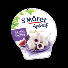 Fromage lait pasteurisé apéritif billes de figues SAINT MORET, 27% deMG, 100g