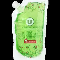 Crème lavante parfum rhubarbe et pomme BY U, recharge de 500ml