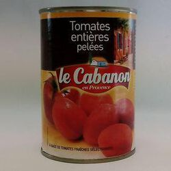 TOMATE ENTIERE PELEE 1/2 CABANON