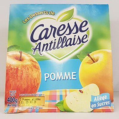 Compote de pommes allégée en sucres,CARESSE ANTILLAISE,4x100g