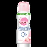 Cadum Déodorant Femme Micro-talc 48h 0% Alcool Rose Cadum, Atomiseur De 100ml