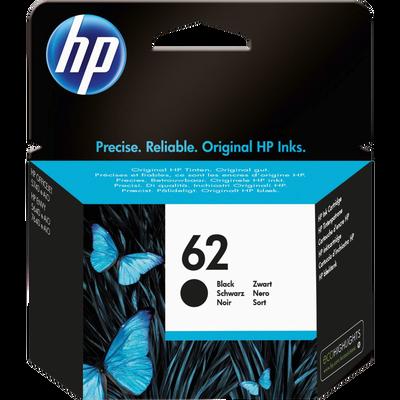 Cartouche d'encre HP pour imprimante, N°62, noir
