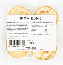 16 mini blinis, CATEL ROC, 135g