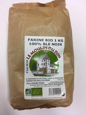 Farine de blé noir BIO, LE MOULIN DU DON, paquet 1kg