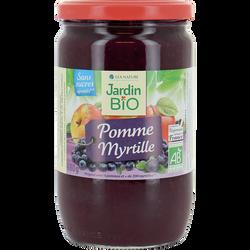 Dessert biofruit pomme/myrtilles bio JARDIN BIO 680g