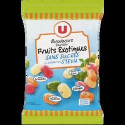 Bonbons saveur fruits exotiques sans sucres U, 120g