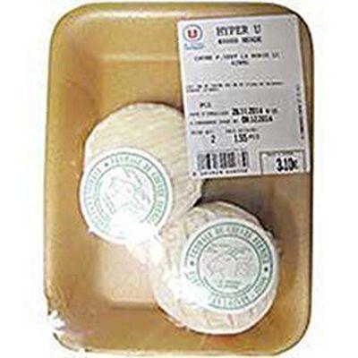 Fromage de chèvre fermier au LAIT cru, 42%MG, barquette de 2x60g