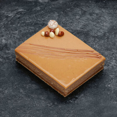 Croustillant caramel beurre salé décongelé, 2 pièces, 280g