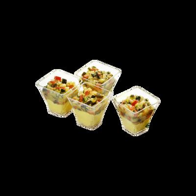 Verrines au tartare de courgettes et poulet au curry, MIX BUFFET, 6x45g