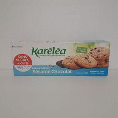Maxi cookies sésame chocolat KARÉLÉA paquet 150g
