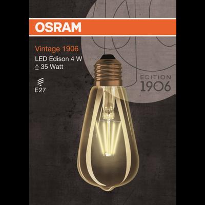 AMPOULE LED RETROFIT FILAMANT EDISON 1906 FIL GOLD 35W