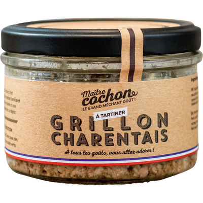 Grillon Charentais MAITRE COCHON, verrine de 180g