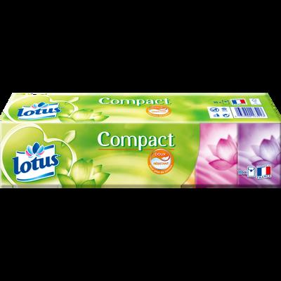 Mouchoirs compacts blanc extrait de Lotus LOTUS, étui x18