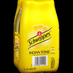 SCHWEPPES indian tonic, 4 bouteilles de 50cl
